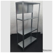 Estantes  4 respisas aluminio / 3 Unidades / REF-MUE 079/ Medidas: Alto: 140 cms. x Ancho: 71 cms. x Fondo: 30 cms. / Arriendo: $ 15.000 / Garantía: $ 45.000