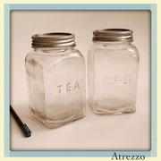 FRASCOS VIDRIO TEA Y COFFEE / REF: COC-067 / 2 unidades / Arriendo: $ 2.000 C/U  / Garantía: $ 5.000 c/u