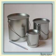 SET TARROS METAL REDONDOS PLATA (X 3) / REF: COC-056 / 3 unidades / Arriendo: $ 2.000 c/u / Garantía: $ 10.000 c/u