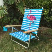 Silla Playa Baja Flamingo  / 1 unidad  / Arriendo: $ 10.000 / Garantía: $ 40.000
