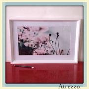 Cuadro Rectangular Flores  (con vidrio) / Medidas : 60 x 40 cms./ 1 unidad / Arriendo: $ 10.000 / Garantía: $ 30.000