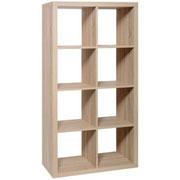 Estante Basic 8 Cubos, color madera  / 1 unidad / Medidas: Alto: 146 cms. x Ancho: 76 cms. x Fondo: 39 cms. / Arriendo: $ 25.000 / Garantía: $ 80.000