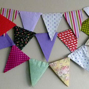 Banderines Patchwork Colores/ REF: TEX- 022/ 6 unidades / Arriendo: $ 6.000 c/u / Garantía: $ 18.000