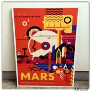 Cuadro grande MARS  (sin vidrio) / Medidas : 1,14 x 84 cms./ 1 unidad / Arriendo: $ 20.000 / Garantía: $ 45.000