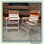 SILLAS ALUMINIO RETRO 2  (REF: MUE-053)  2 UNIDADES / ARRIENDO: $15.000. C/U / GARANTIA: $50.000 C/U