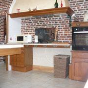 plan de travail cuisson réglable en hauteurgîte rural Saint Quentin Aisne Laon Noyon Compiegne Peronne