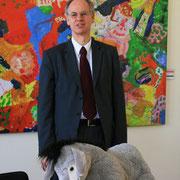 Matthias Köhne, Bürgermeister von Berlin Pankow, mit unserem Esel