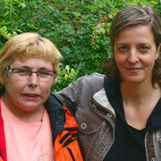 Petra Fähnrich (Noteselhilfe) mit Kirstin Wulf
