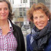 Meike Behrmann, Vorsitzende des LandFrauenverbands Hamburg e. V. (rechts) mit Kirstin Wulf