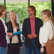 Kirstin Wulf mit (v.l.n.r.) Leonie Anfang, Horst Berg, Christiane Backendorf vom MKULNV