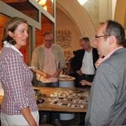 Kirstin Wulf mit Andreas Otto (B'90/Grüne), direkt gewählter Kandidat des Bezirks Pankow für das Berliner Abgeordnetenhaus