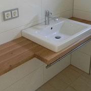 Waschtischplatte Fichte Altholz, geölt