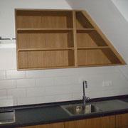 Einbauküche in Dachschräge eingepasst