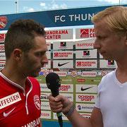 FC Thun - FC Luzern, 11.08.2013, Interview nach dem Spiel mit Enrico Schirinzi 1