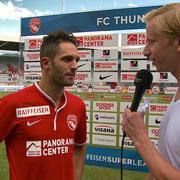 FC Thun - FC Luzern, 11.08.2013, Interview nach dem Spiel mit Enrico Schirinzi 2