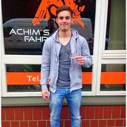 Oliver Schöwe hat seinen B-Führerschein seit dem 18.02.16!