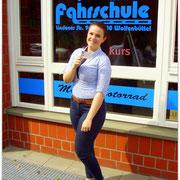 Fabienne Ziehe hat ihren B-Führerschein seit dem 29.05.15!