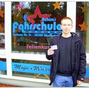 Benjamin Schilling hat seinen B-Führerschein seit dem 09.12.14!