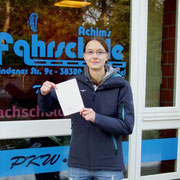 Sophie Böhm hat ihren B-Führerschein seit dem 30.01.14!