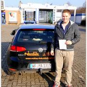 Velten Herbst hat seinen B-Führerschein seit dem 06.02.15!