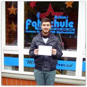 Hassan Ekinci hat seinen B-Führerschein seit dem 05.12.14!