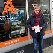 Alexander Bank hat seinen B Führerschein seit dem 15.02.2018