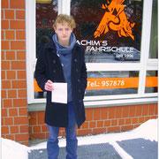 Jonas Schulte hat seinen B-Führerschein seit dem 05.01.16!