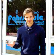 André Schlinger hat seinen B-Führerschein seit dem 25.04.14!