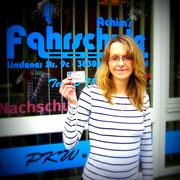 Sarah Budisch hat ihren B-Führerschein seit dem 06.03.14!