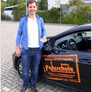 Justus Ebers hat seinen B-Führerschein seit dem 21.08.15!