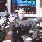 Pascal Mund hat seinen A-Führerschein seit dem 06.09.13!