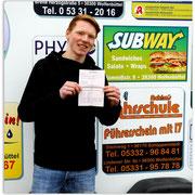 Christopher Pantke hat seinen BE-Führerschein seit dem 11.04.14!