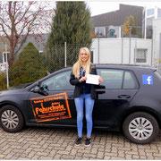 Annemarie Thiemann hat ihren BE-Führerschein seit dem 28.10.15!