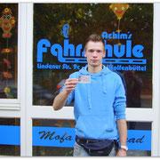 Martin Franke hat seinen B-Führerschein seit dem 31.10.14!
