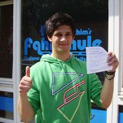 Karol Kazmierczak hat seinen B-Führerschein seit dem 17.07.13!