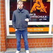 Kevin Kielmann hat seinen B-Führerschein seit dem 10.02.16!