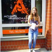 Laura Frohme hat ihren B-Führerschein seit dem 07.06.16!