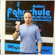 André Wisniewski hat seinen B-Führerschein seit dem 31.03.15!