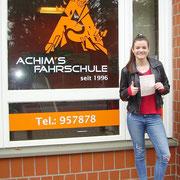 Sophie Haselmeyer hat ihren B Führerschein seit dem 29.03.2017