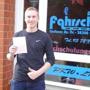 Phillip Rietzkow hat seinen B-Führerschein seit dem 04.11.13!