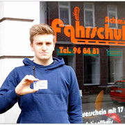 Justin Gittermann hat seinen B-Führerschein seit dem 31.03.15!