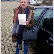 Pauline Eggert hat ihren B-Führerschein seit dem 28.10.15!