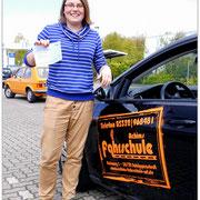 Sarah Fuchs hat ihren B-Führerschein seit dem 30.04.15!