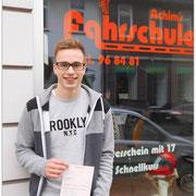 Justus Eckhoff hat seinen B-Führerschein seit dem 06.03.15!