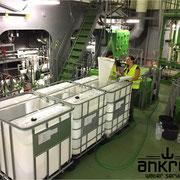 Sampling during shipboard test