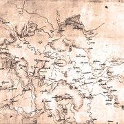 1503 Mappa con interventi di Leonardo da Vinci