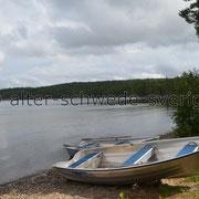 "Naturcamping ""Storsands Vildmarkscamping"" ... Unser Angelboot ..."