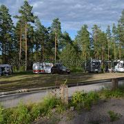Naturcamping nördlich von Målilla am Hesjön...