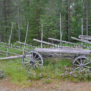 "Naturcamping ""Storsands Vildmarkscamping"" ... Unser Wagen für´s ""Holz holen"" ..."