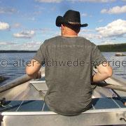 "Naturcamping ""Storsands Vildmarkscamping"" ... ""Steuermann uff´n Angelboot"" ..."